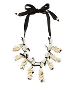 black &  white 'shell collector' necklace
