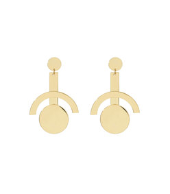 gold telescope earrings