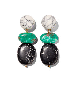 boulder drop earring- marble