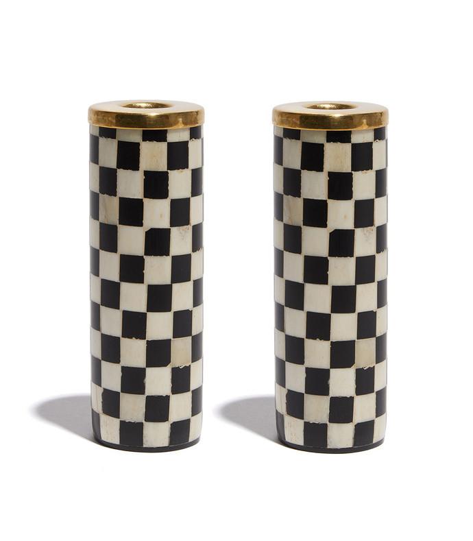 checkered candlesticks
