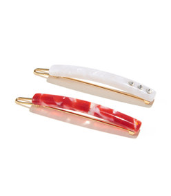 stick barrette pair