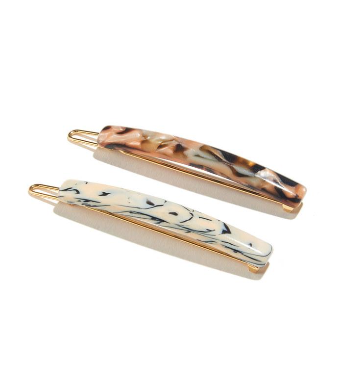 stick barrette pair