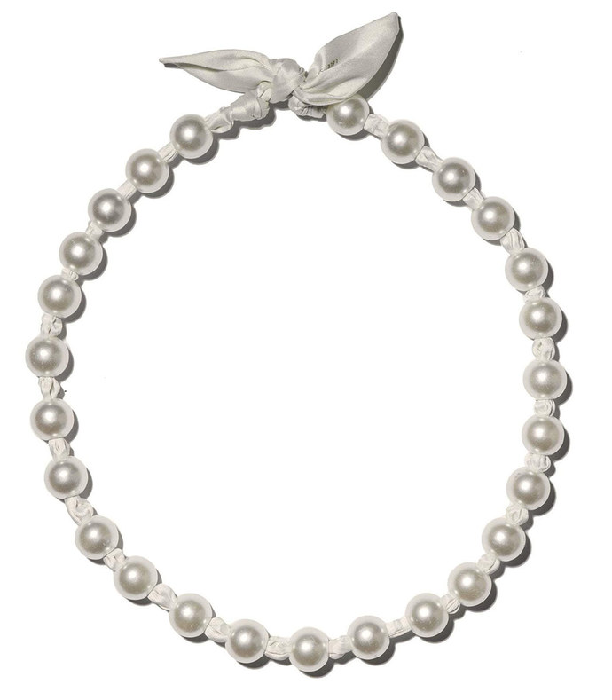 pearl skinny scarf necklace