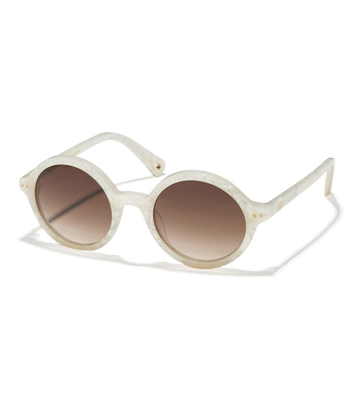 mother of pearl east village round sunglasses
