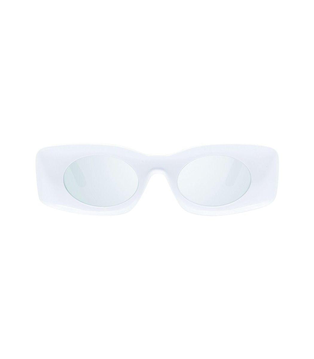 Loewe White Smoke Mirror Rectangular Sunglasses