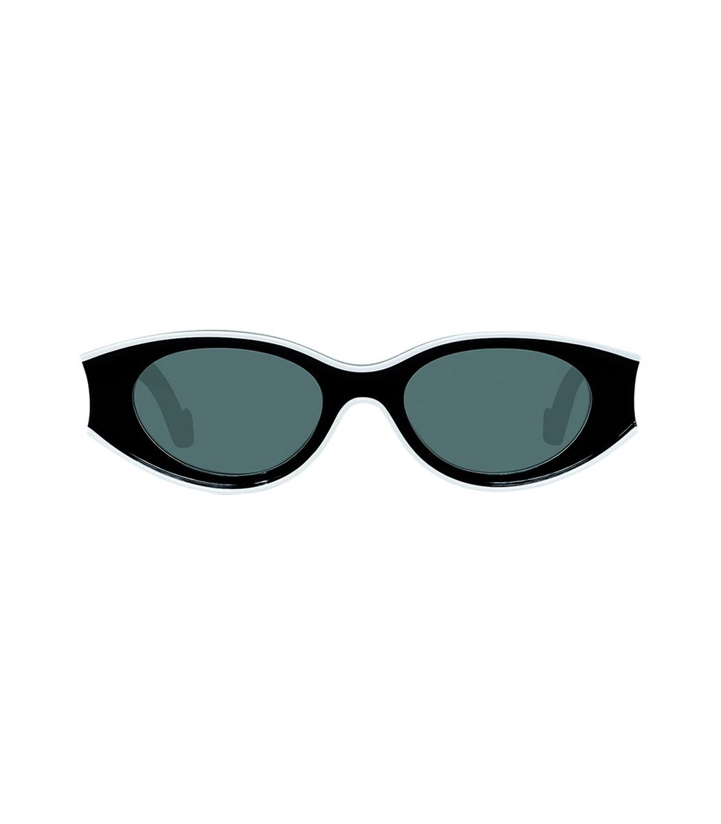 Loewe Black And White Small Oval Sunglasses