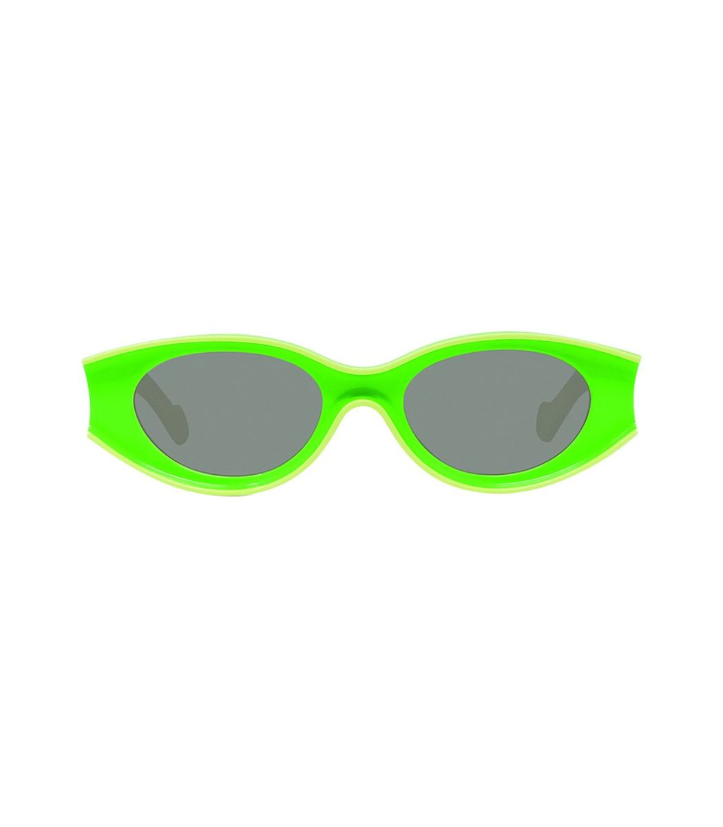 Loewe Fluorescent Green Small Oval Sunglasses