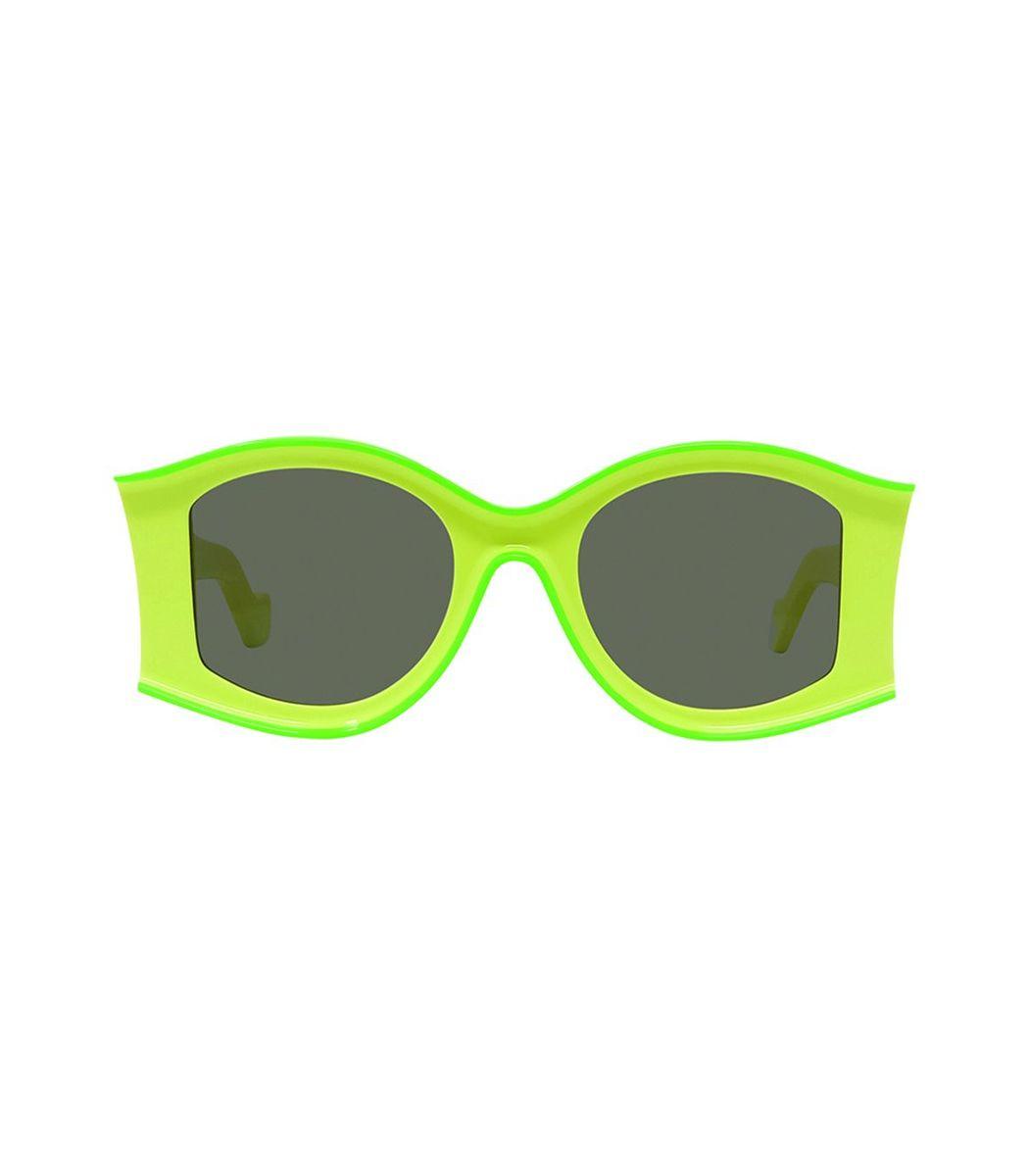 Loewe Fluorescent Green Large Sunglasses