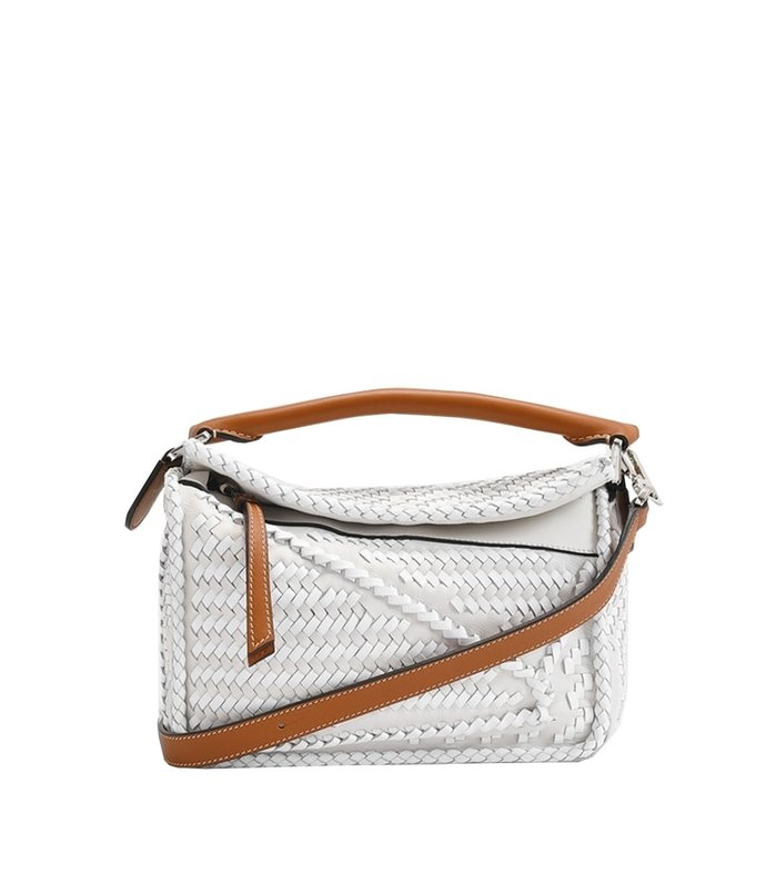 woven small puzzle bag