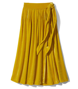 manet velvet wrap skirt