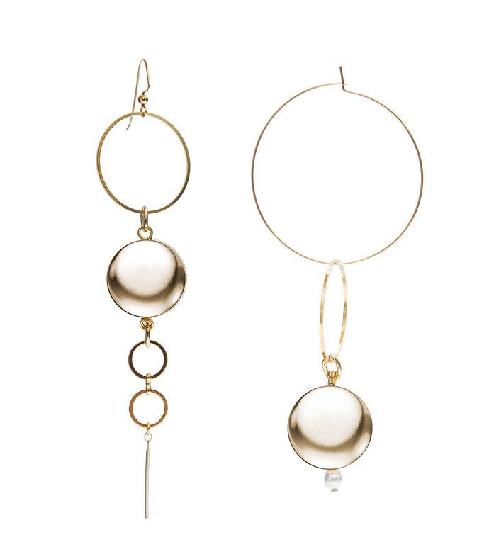 gold solar earrings