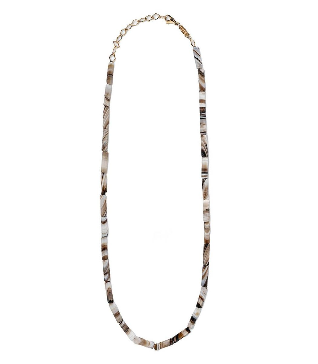 Azlee White Agate Bead Necklace