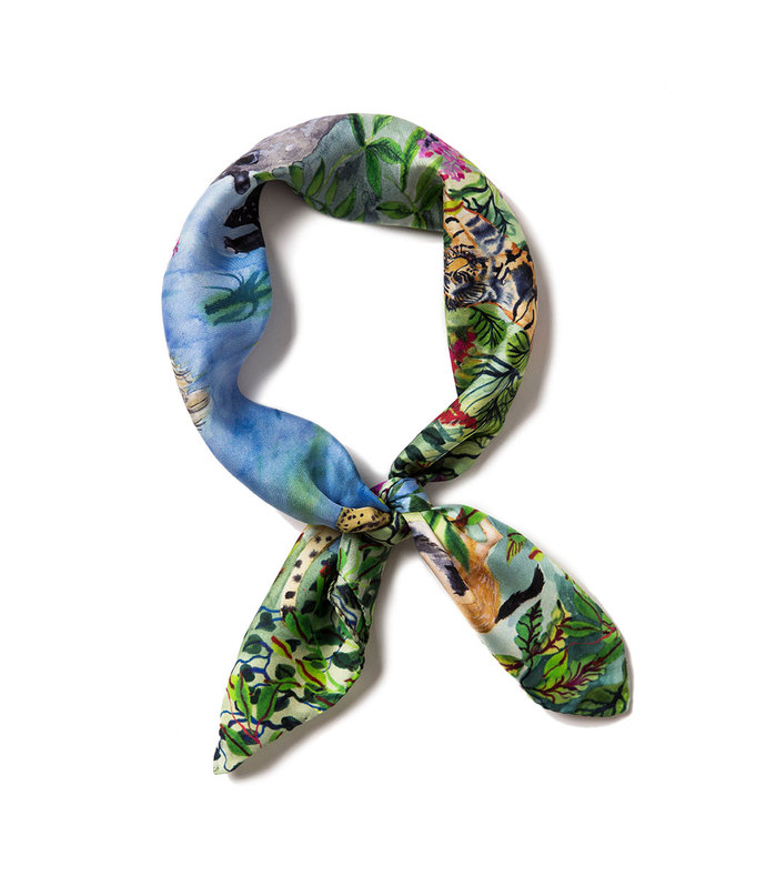 animal kingdom mini scarf
