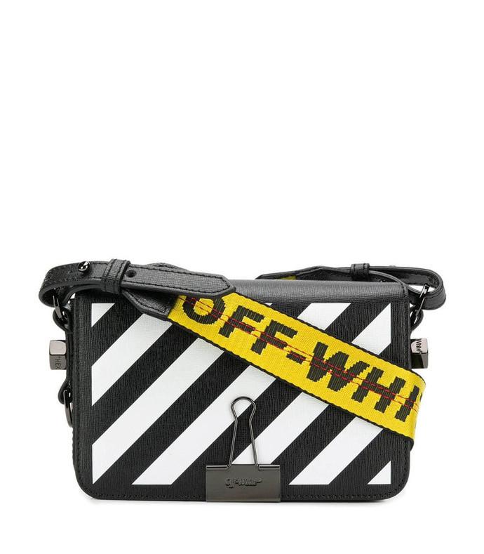 mini striped crossbody bag