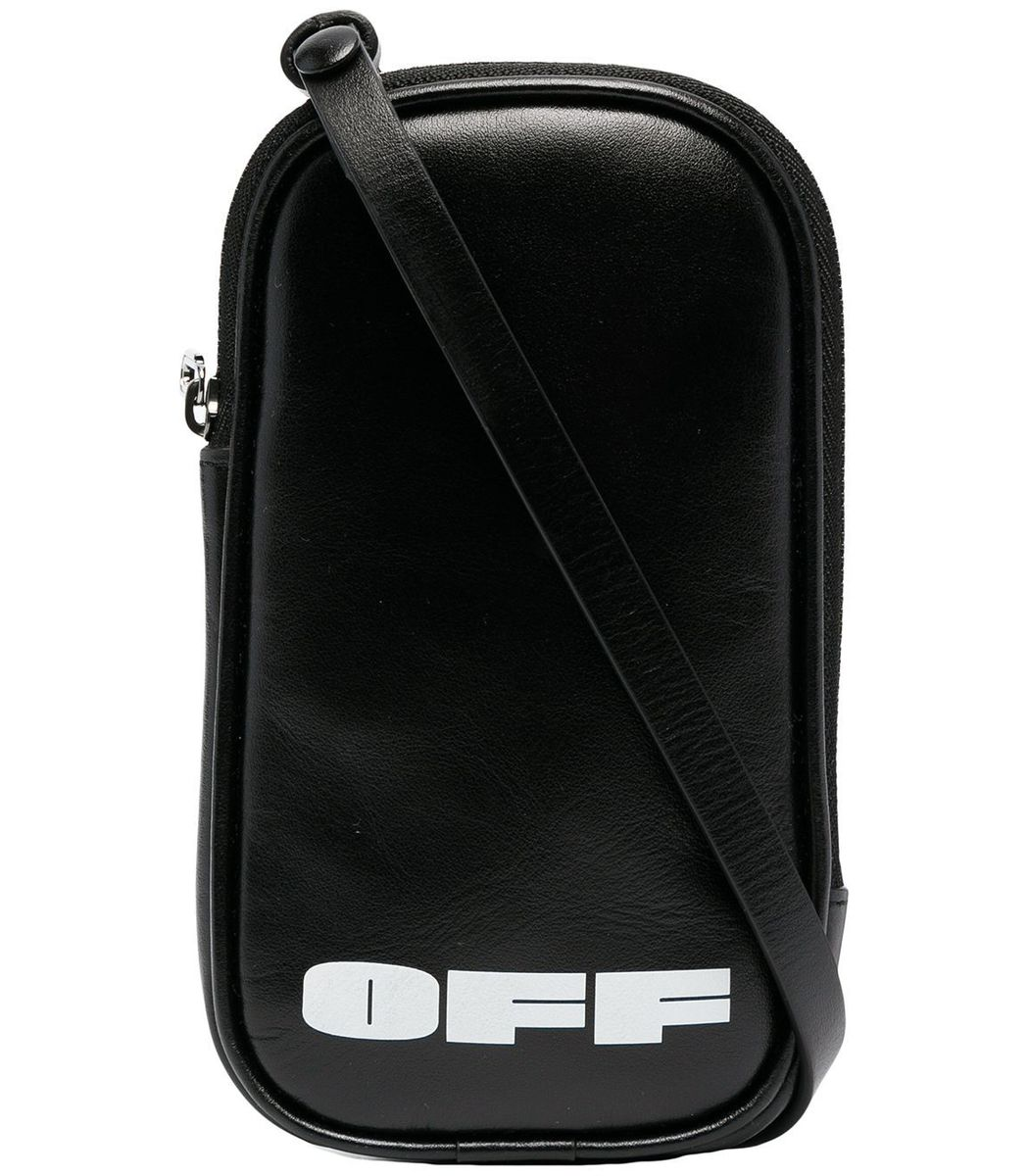 Off-White Black Leather Iphone Holder