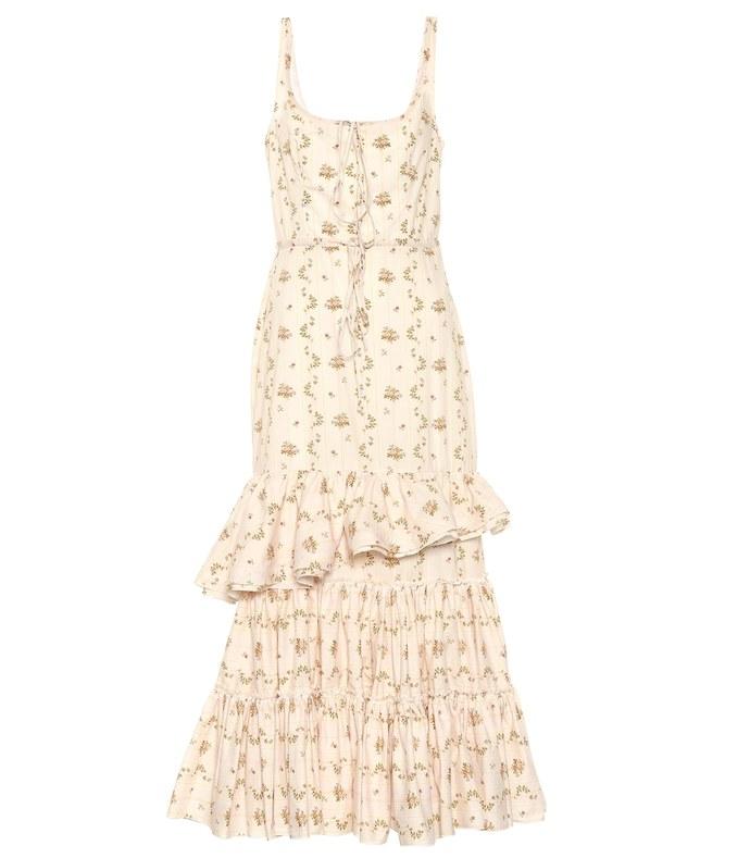 onilde floral cotton maxi dress