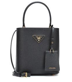 saffiano mini leather bucket bag