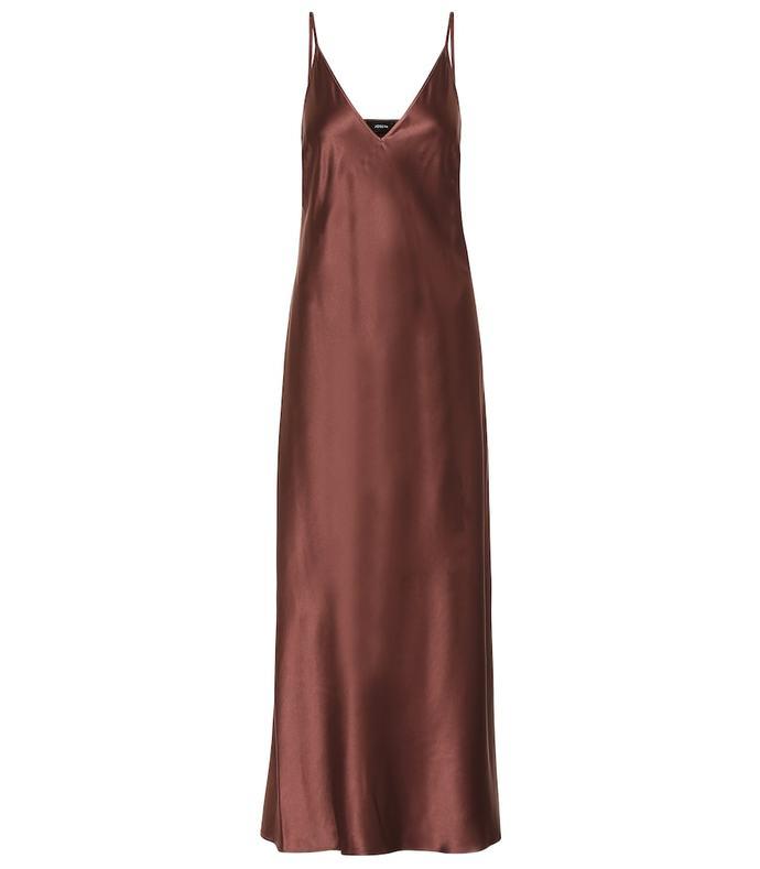 clea silk-satin slip maxi dress