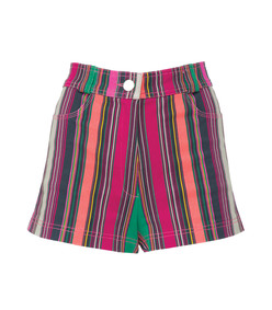 multicolor collins avenue striped shorts