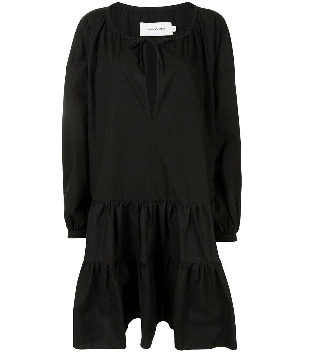 Marques' Almeida Oversized Smock Dress, Black