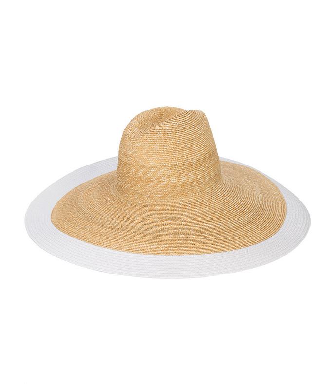 white mimi straw hat