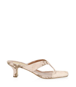 python print leather thong sandals