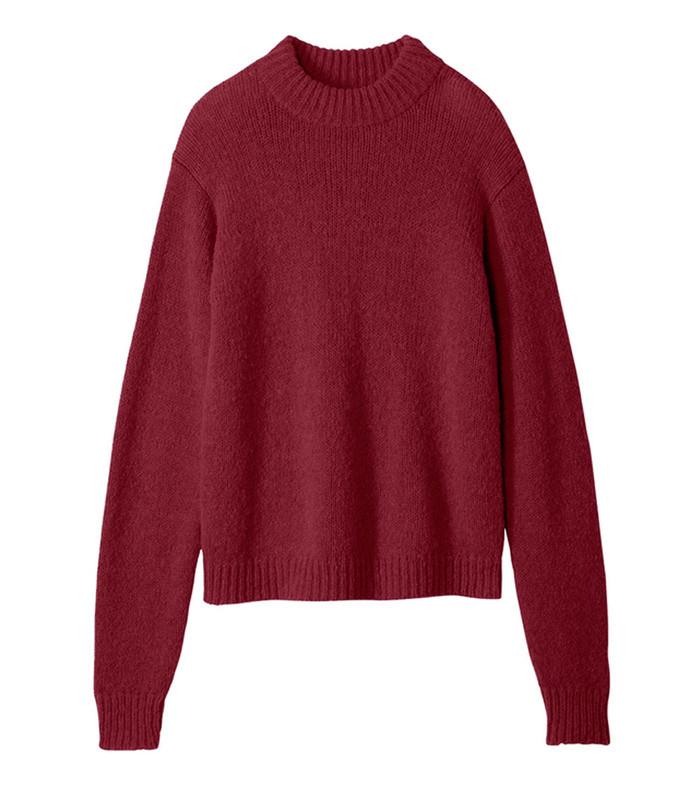 dark currant cozette alpaca easy pullover