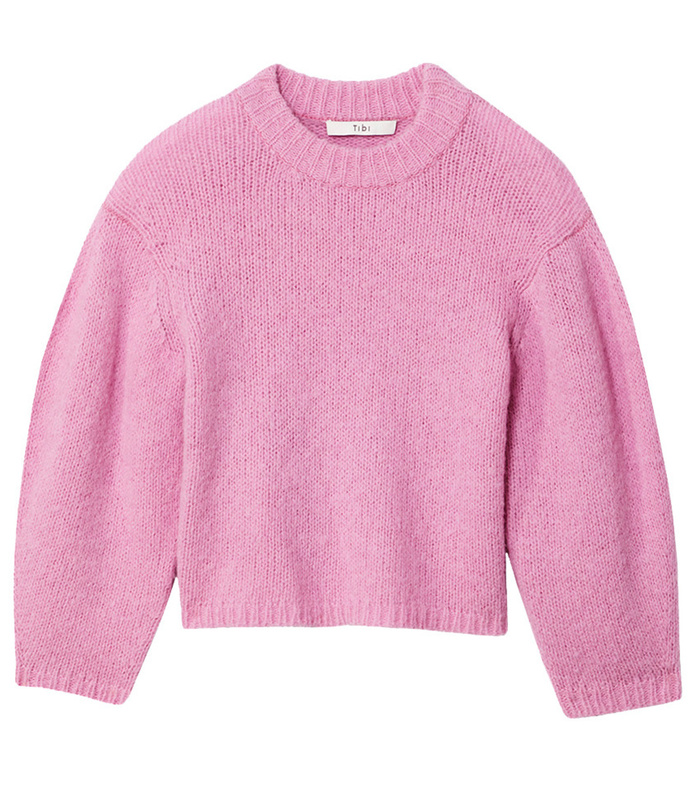 deep pink cozette alpaca cropped pullover