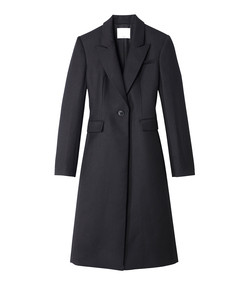 black luxe wool tuxedo coat
