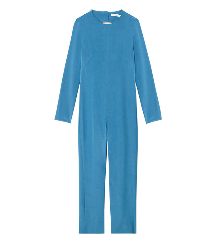 cafb7463c8d0 Tibi. Silk Jumpsuit with Fringe