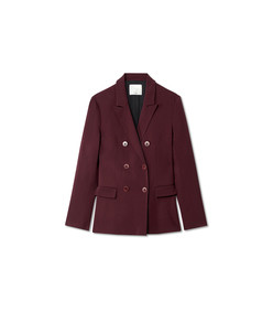 burgundy steward blazer