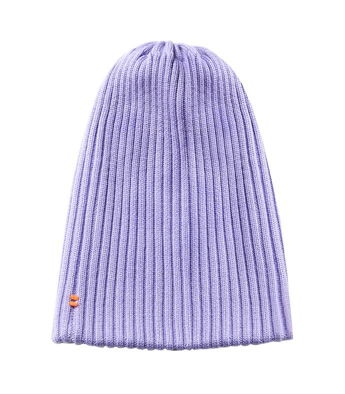 lavender wool beanie