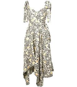 cami dress with asymmetrical hem