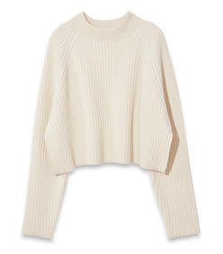 cropped crewneck sweater