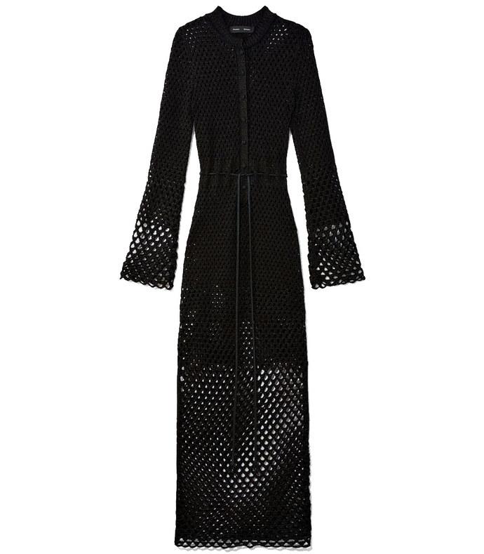 lurex open stitch dress
