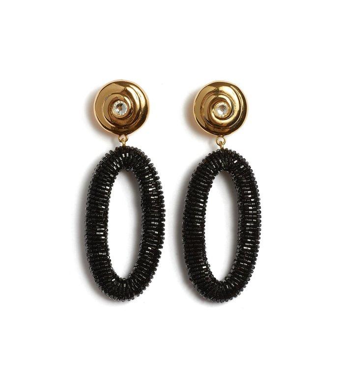 allure earrings in black