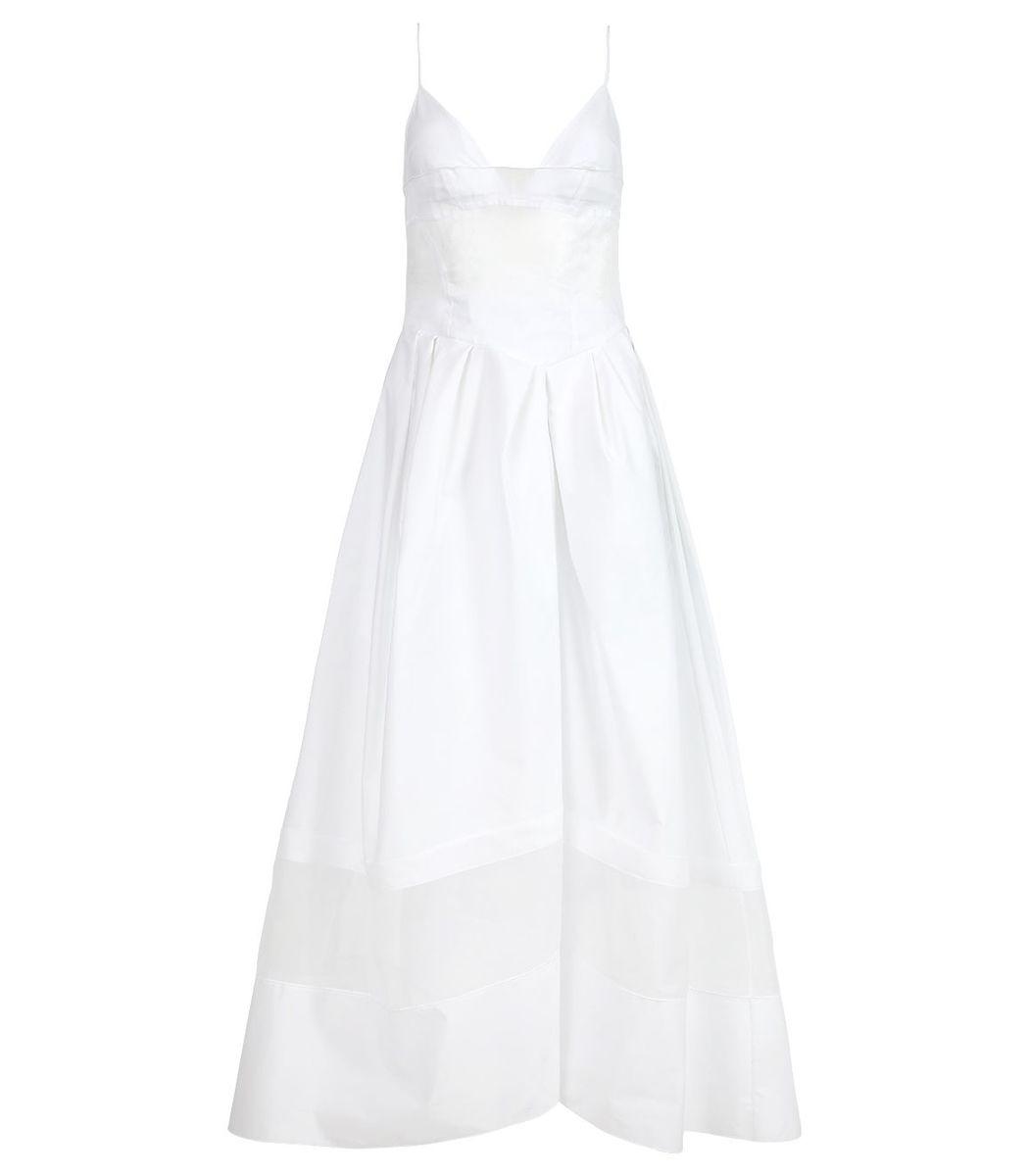Rosie Assoulin Layered Cami Dress, White