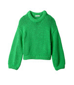 tube yarn cropped pullover