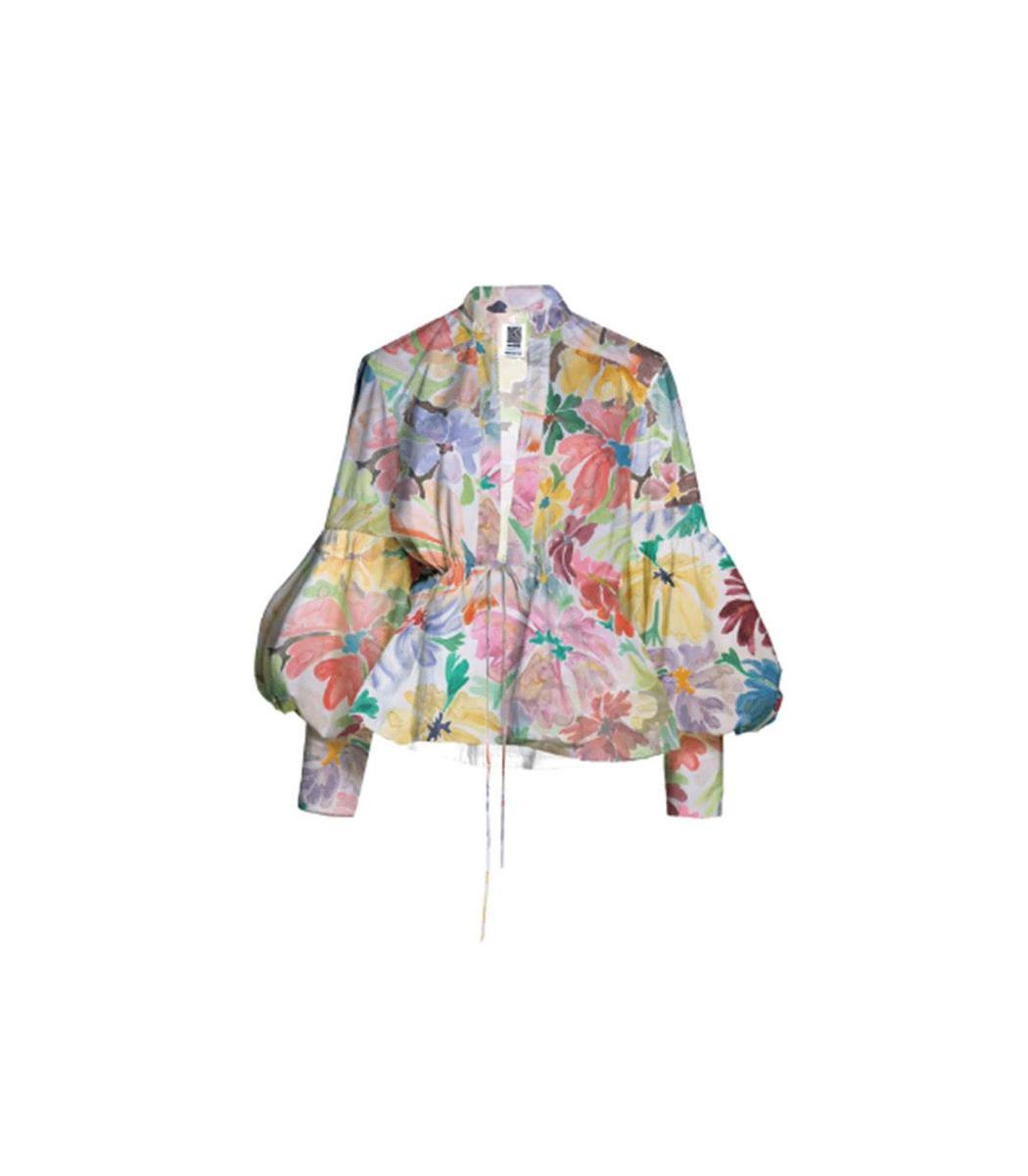 Rosie Assoulin Lantern Puff Sleeve Blouse
