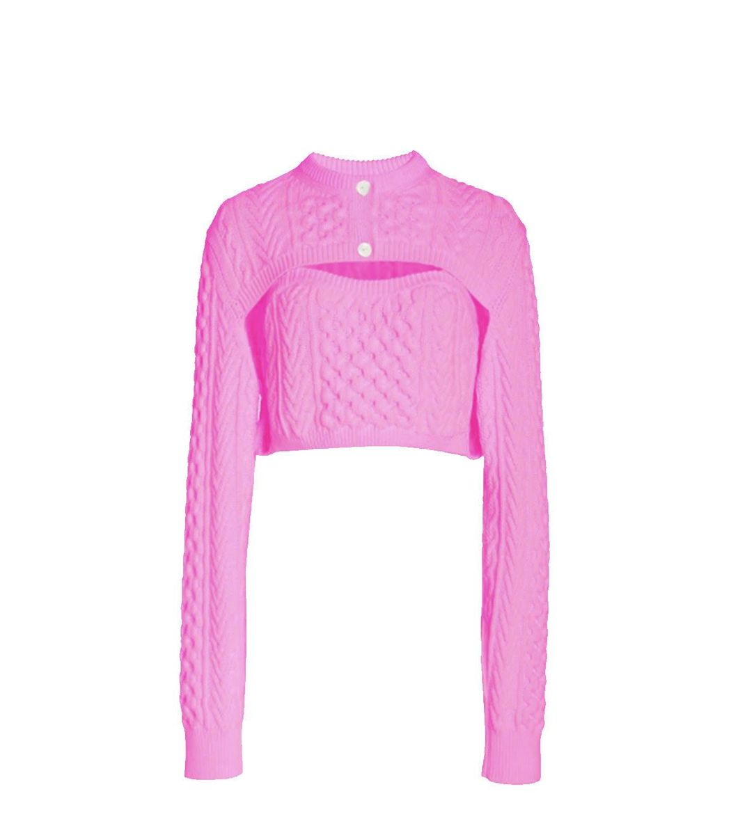 Rosie Assoulin Thousand In One Ways Sweater In Pink