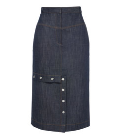 raw denim jamie skirt