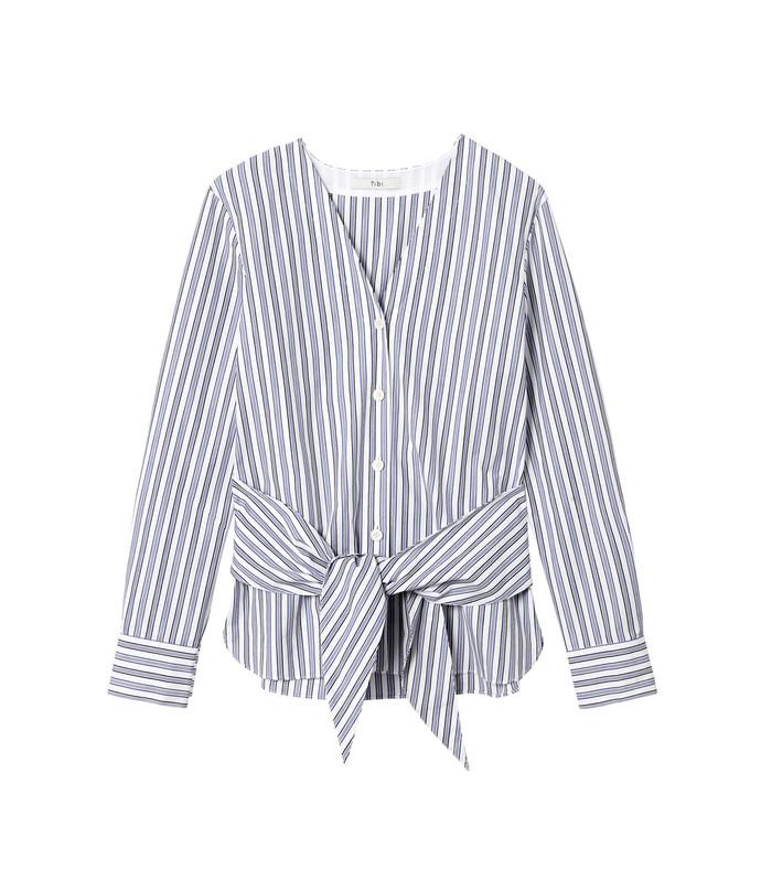 multicolor liam stripe v-neck shirt