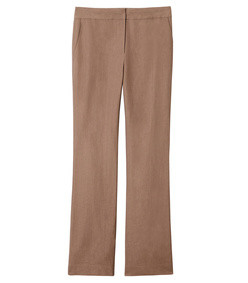 brown linen viscose jamie bootcut pants