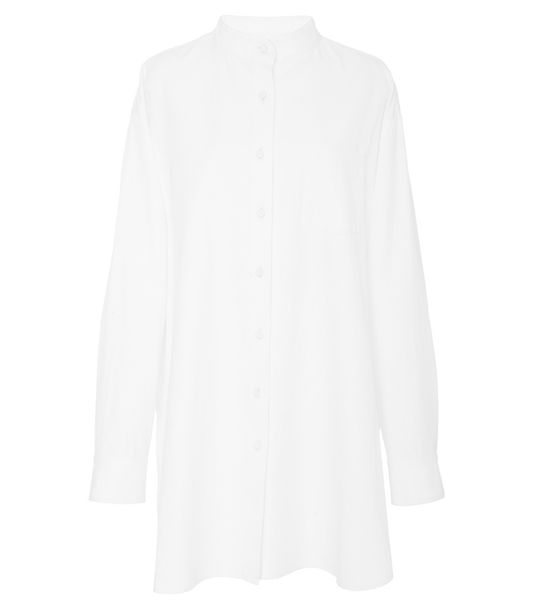MARISA WITKIN Oxford Dress Shirt in White