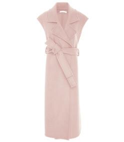 outerwear vest in blush