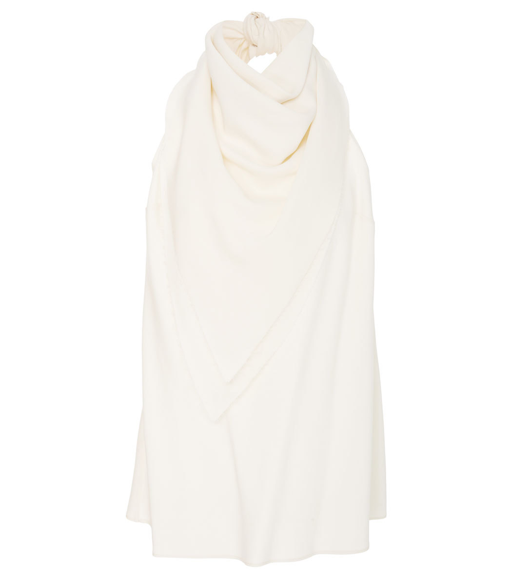 MARISA WITKIN Backless Bandana Top in Ivory