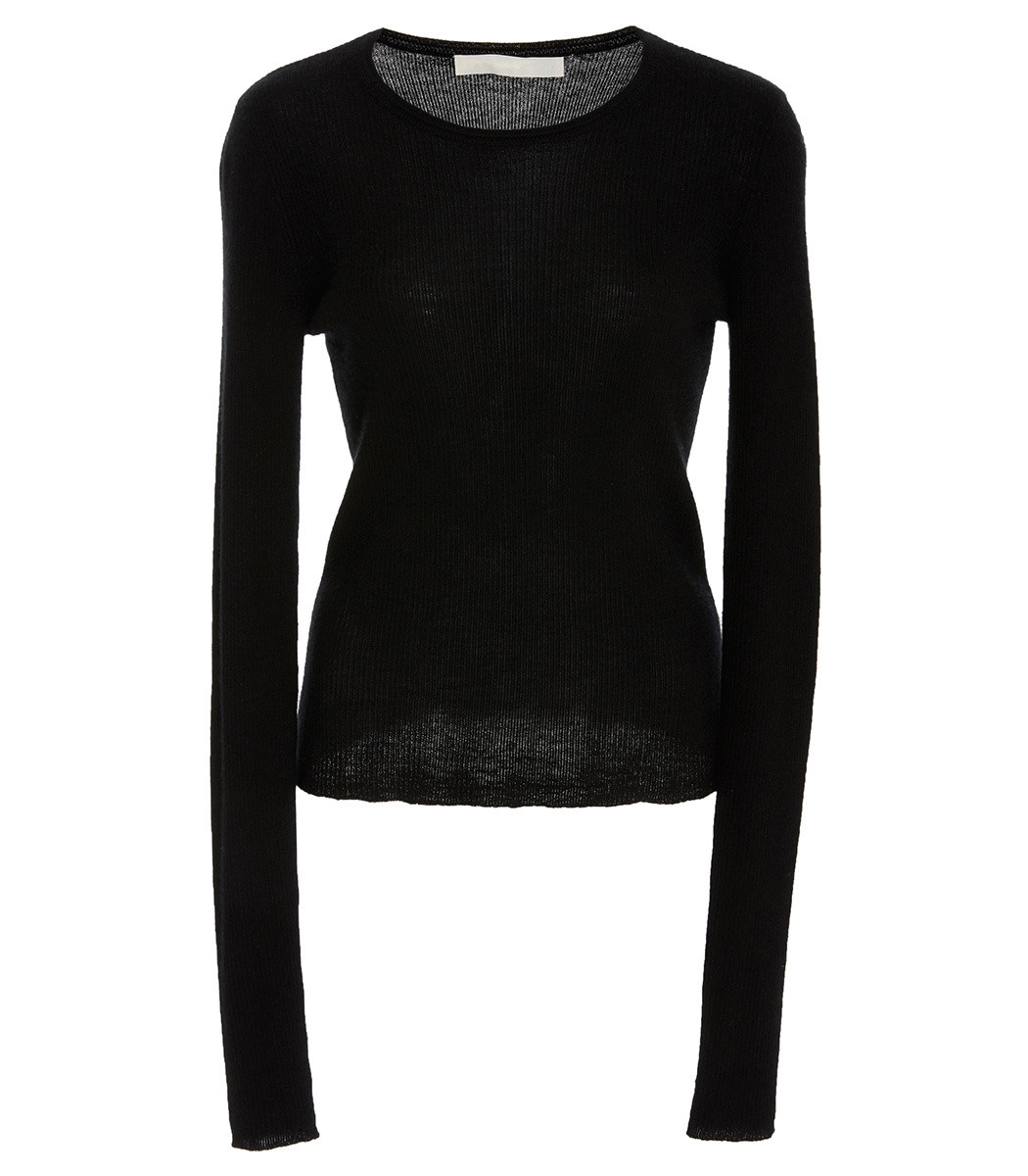 MARISA WITKIN Fine Gauge Cashmere Sweater With Removable Turtleneck in Black