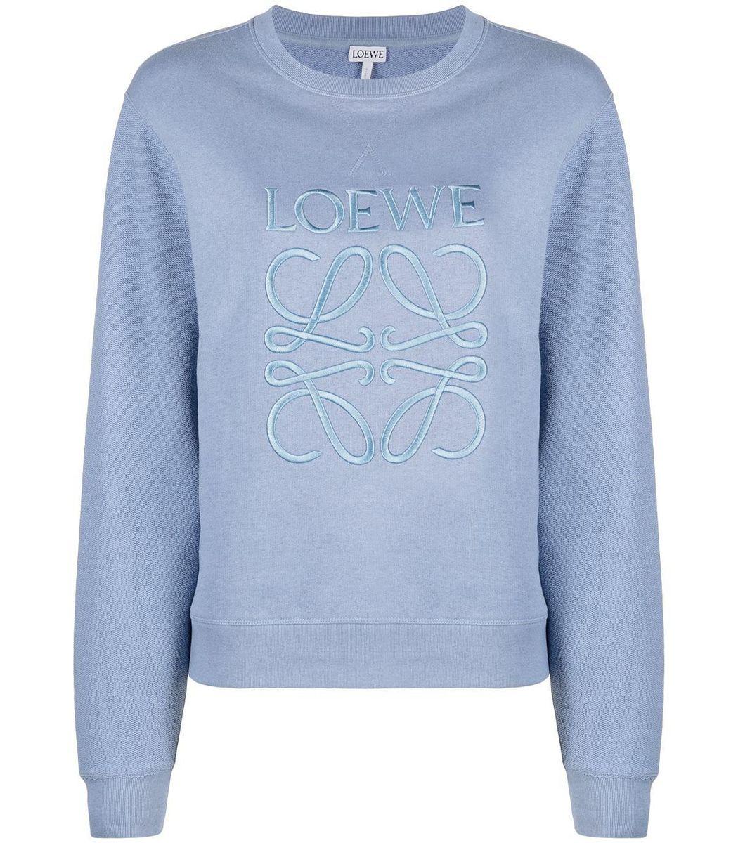 Loewe Dusty Blue Anagram Pullover Sweatshirt
