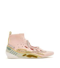crystal-embellished sock trainers