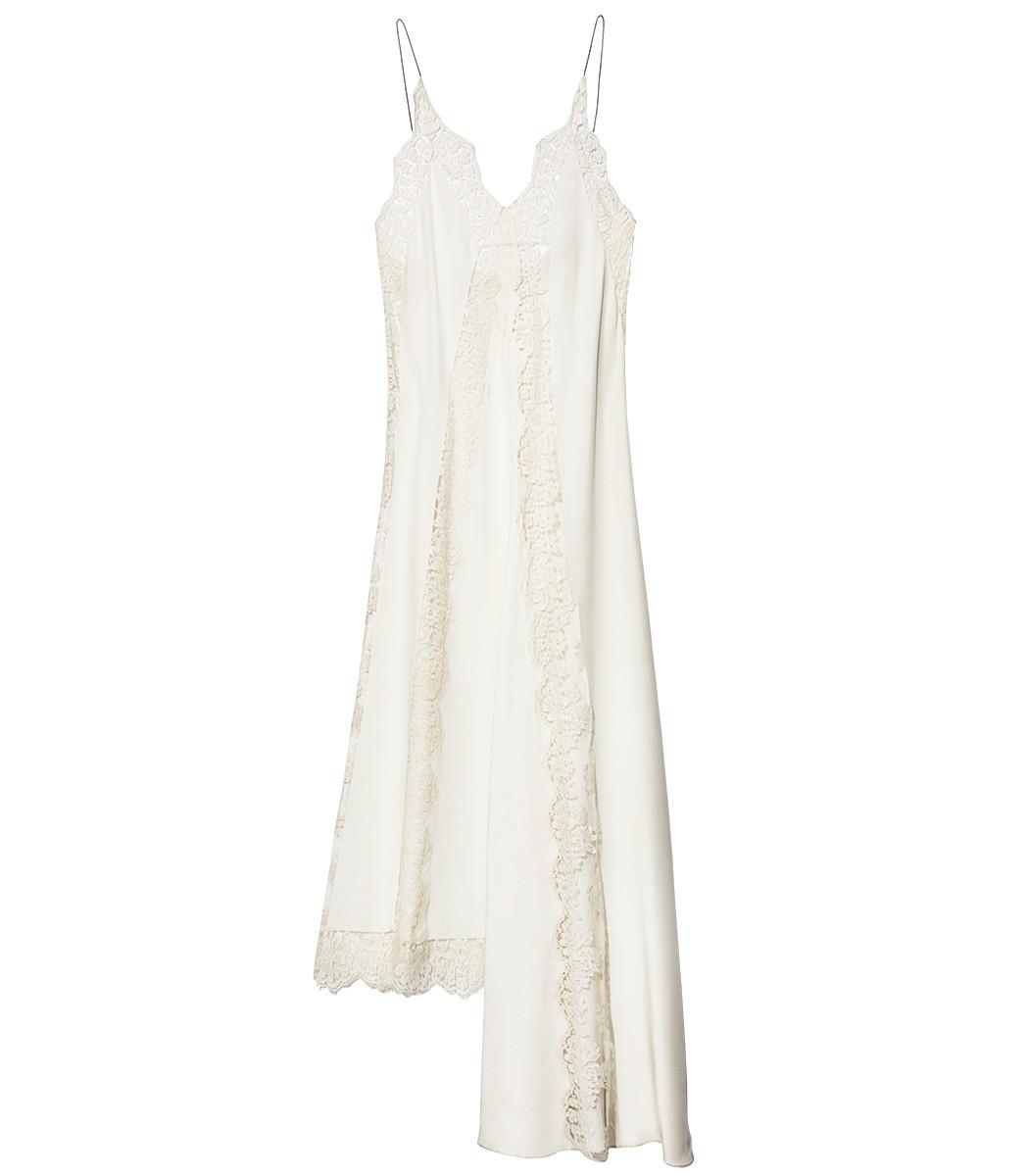 STELLA MCCARTNEY Angie Marocaine V-Neck Sleeveless Silk Lace Cami Dress